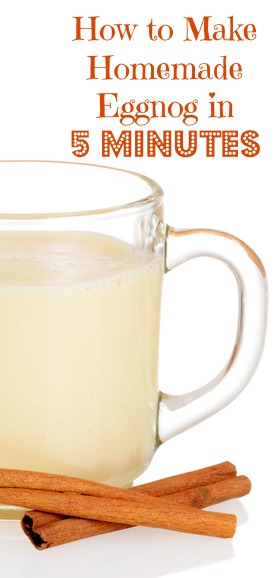 How to Make Homemade Eggnog in 5 Minutes | www.fearlesseating.net