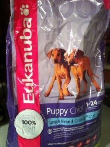 an example of commercial dog food
