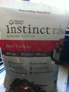feed your dog raw food from the pet store