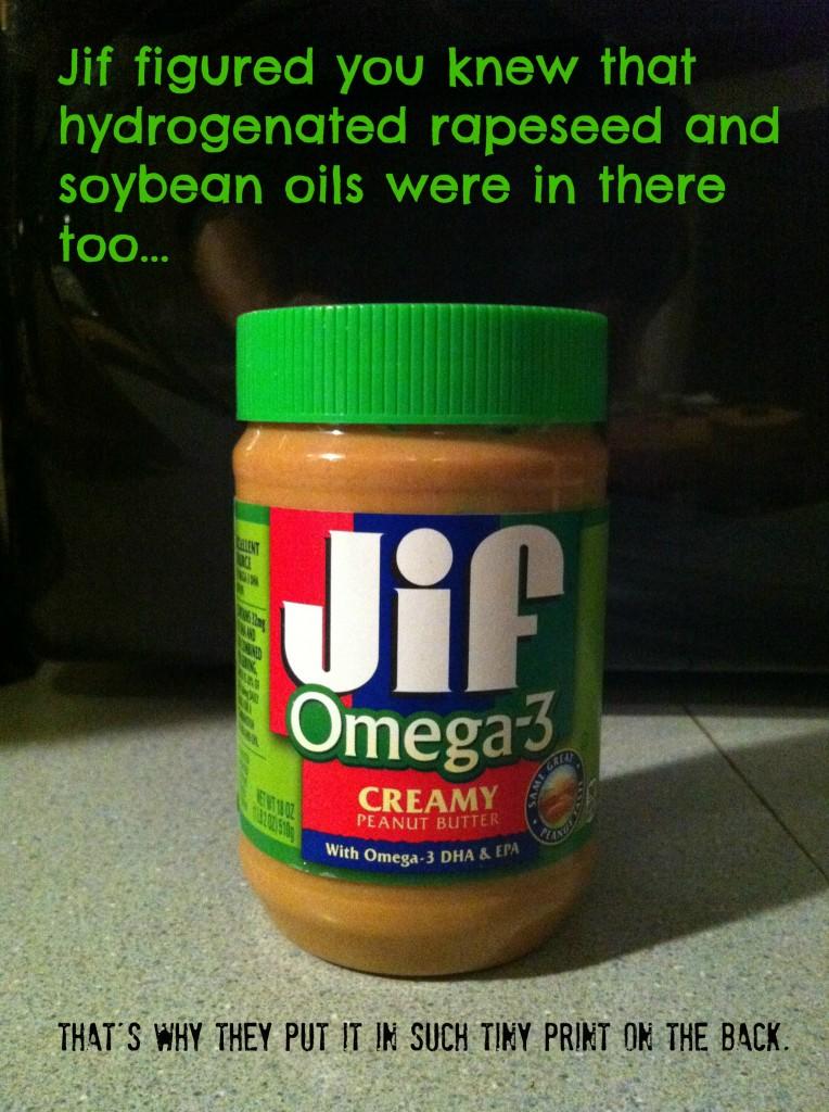 Jif Omega-3 joke