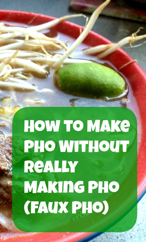 Pho is a popular Vietnamese soup. Traditional preparations can be time-consuming. Learn how to make faux Pho, a quicker yet still very tasty version.