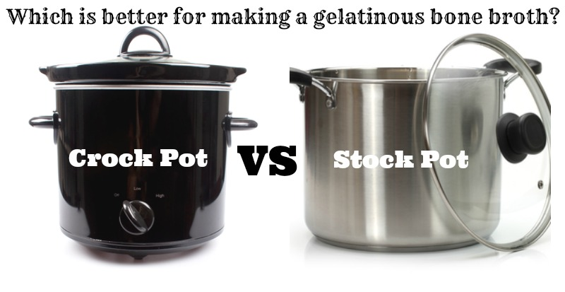 Which is better for making a gelatinous bone broth - a stock pot or a crock pot? Here's the answer with video proof.