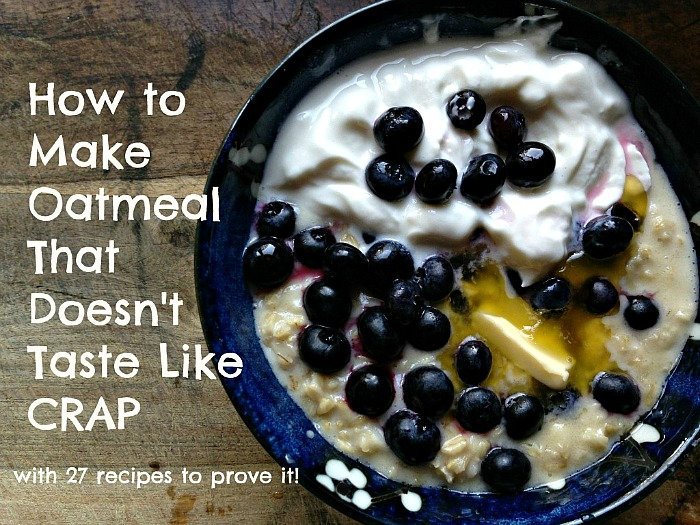 It's crazy what passes for oatmeal in America. Instead of some tasteless, instant, goopy crap you can learn how to make oatmeal that actually tastes good!