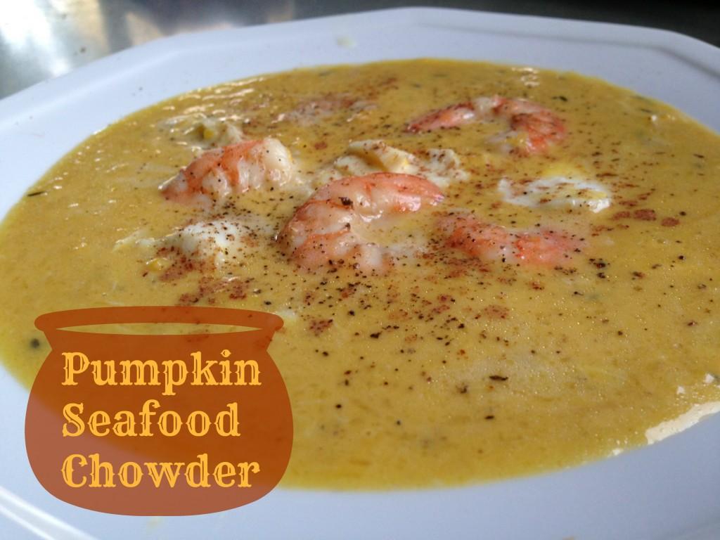 pumpkin seafood chowder