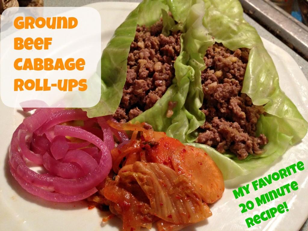 Ground beef cabbage wraps