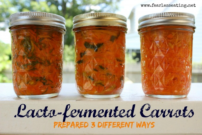 Lacto-fermented Carrots 3 Ways