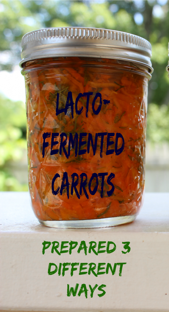 Lacto-fermented carrots Prepared 3 Different Ways | www.fearlesseating.net