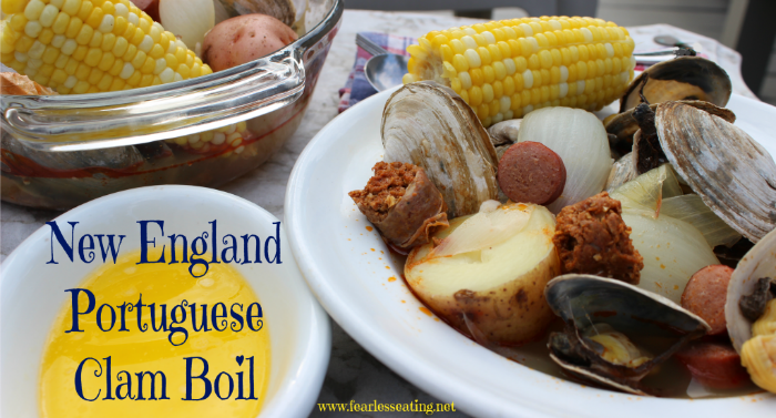 A New England Portuguese clam boil is kind of like the simplified version of a clam bake. Here's a simple recipe that can be made in less than a half hour.