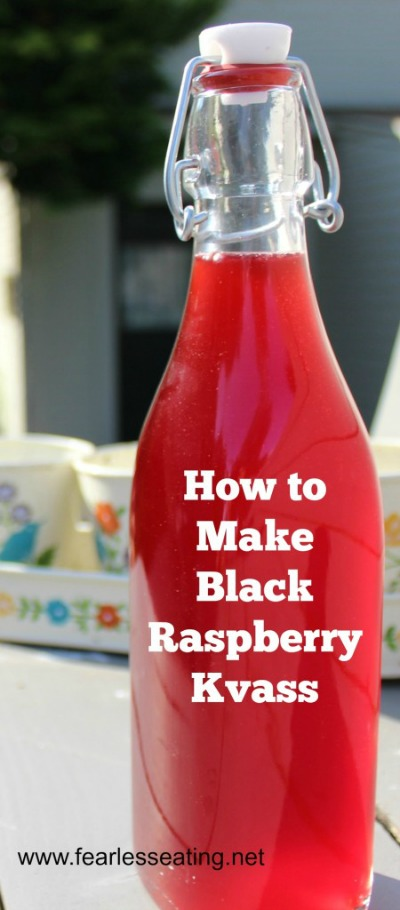Black raspberry kvass is a kid-friendly fermented fruit drink that is easy to make at home. It's also a healthful alternative to commercial sodas.