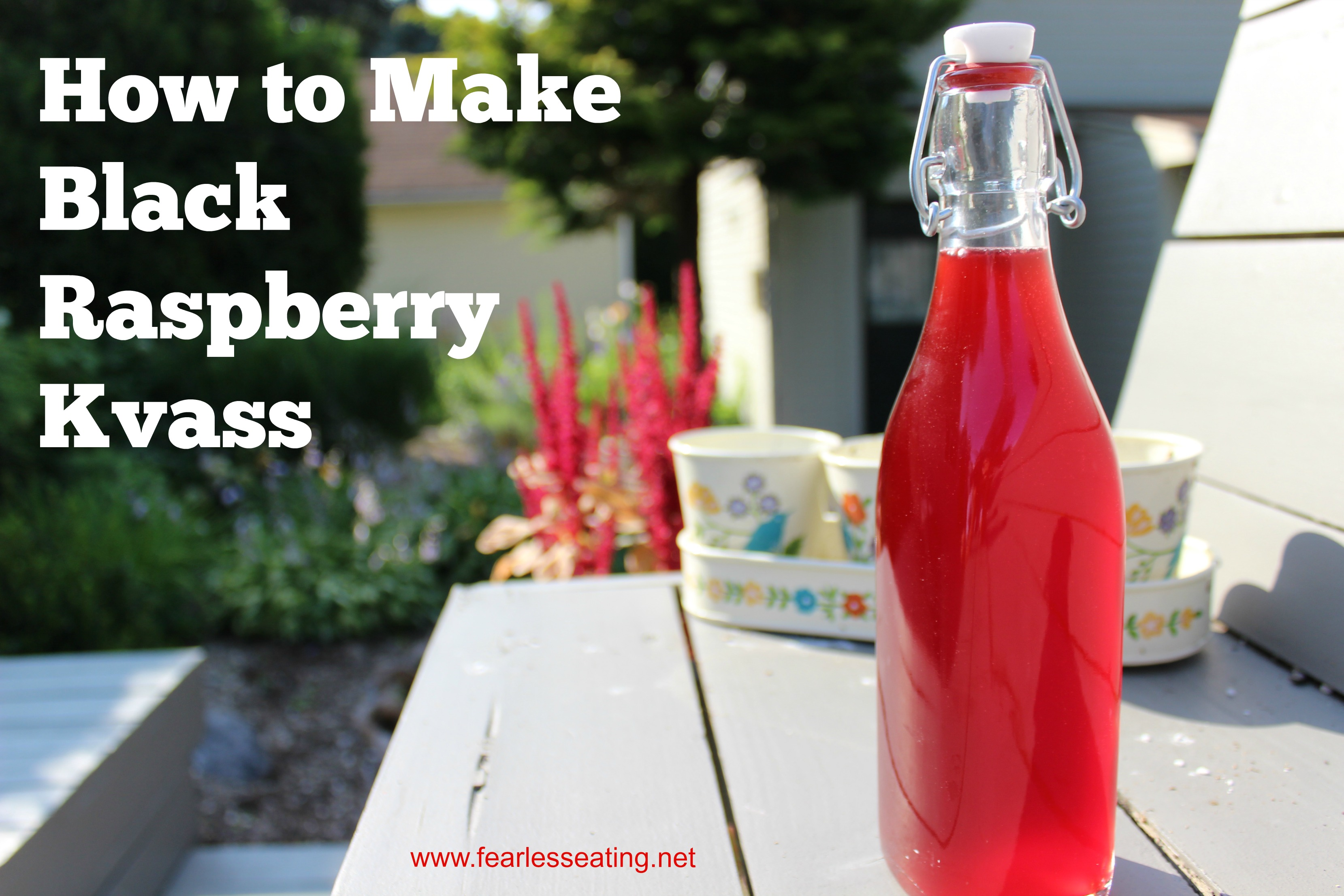 How to Make Black Raspberry Kvass