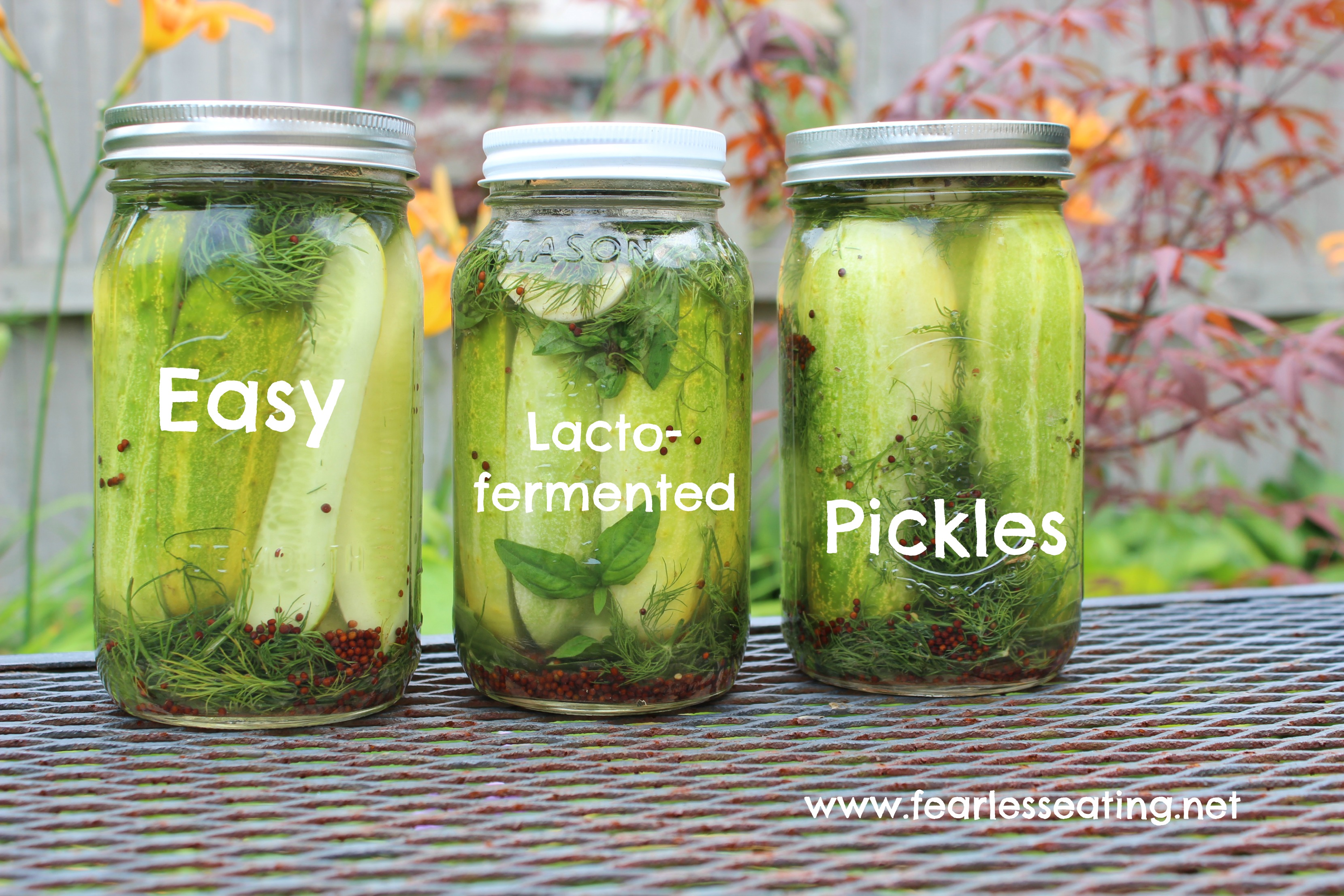 Lacto-fermented Pickles