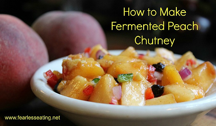 Fermented peach chutney is a great summertime condiment that compliments many dishes. Here is a simple recipe for fermented peach chutney.