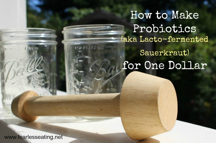 Did you know you can make probiotics at home? It's so simple! I'll even show you a video demo for how to make probiotics for one dollar.