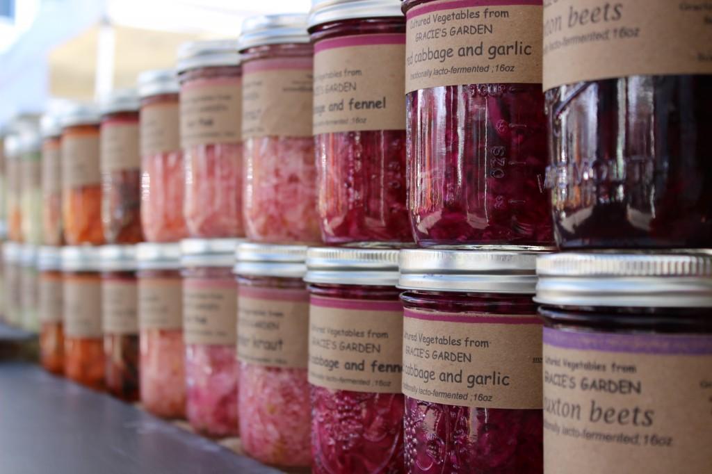 jarred fermented vegetables at the Boston Fermentation Festival
