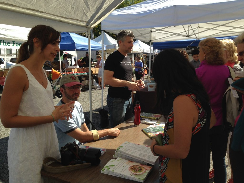 authors signing books at the fermentation festival