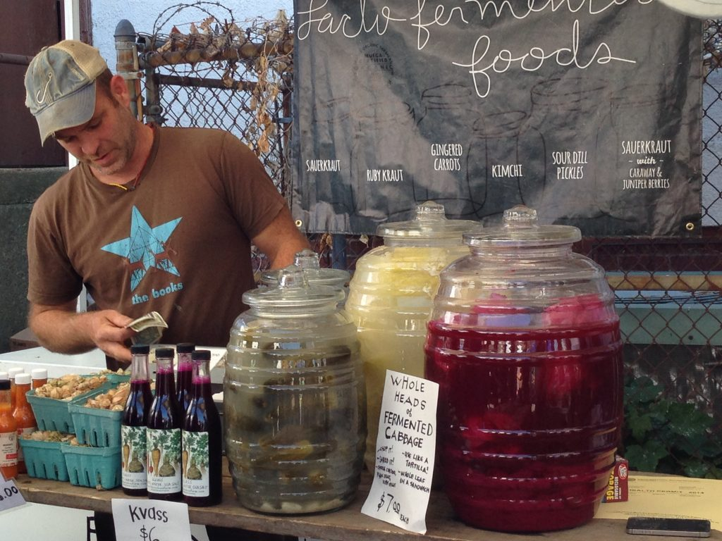pic of vendor selling lacto-fermented foods at the Boston Fermentation Festival