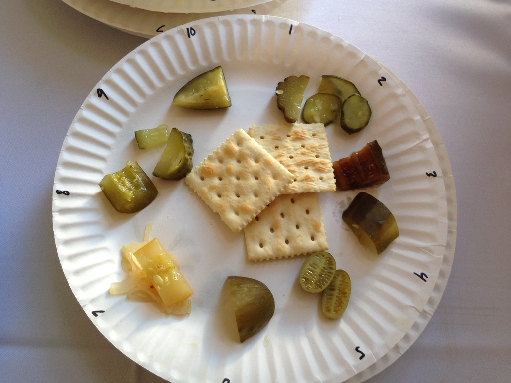 picture of the ten sample for the pickling competition