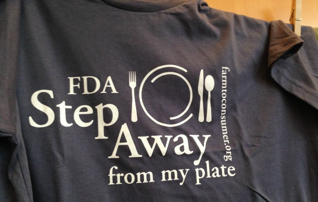 t-shirt to support farm to consumer legal defense fund