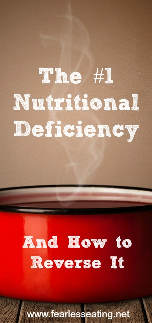 The #1 nutritional deficiency is not a mineral or vitamin. In fact, it can't be confirmed by any lab test. But I can confirm it for you.