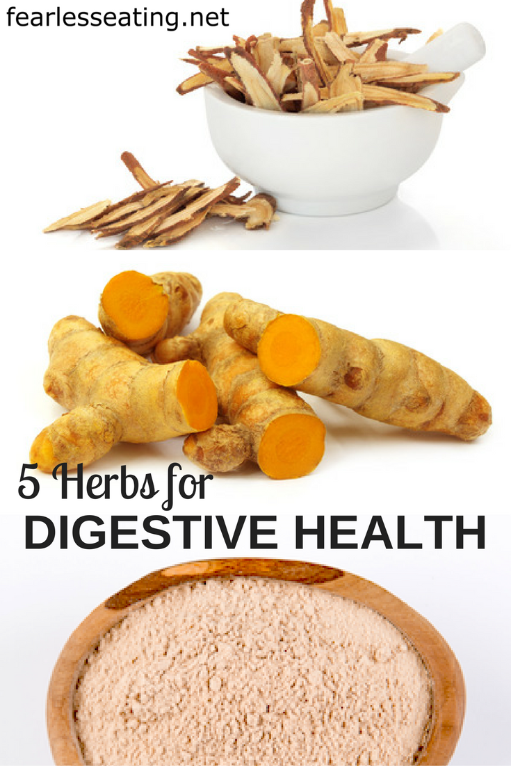 There are many herbs for digestive health that can be more effective than supplements. Here are 5 common ones for common digestive issues.