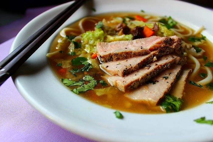 Asian Pork Noodle Soup