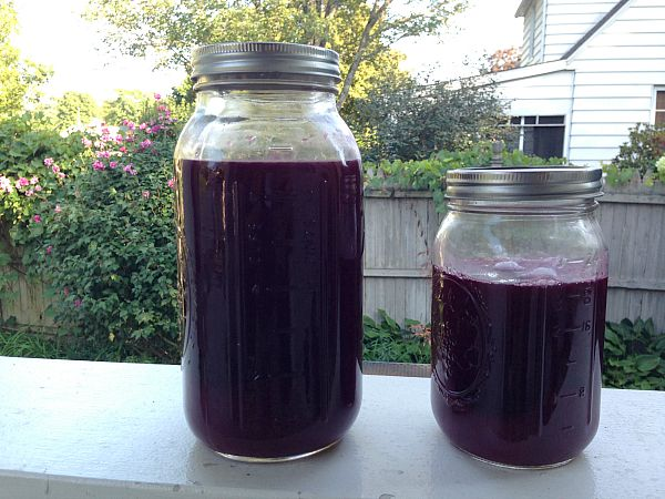 strained grape juice