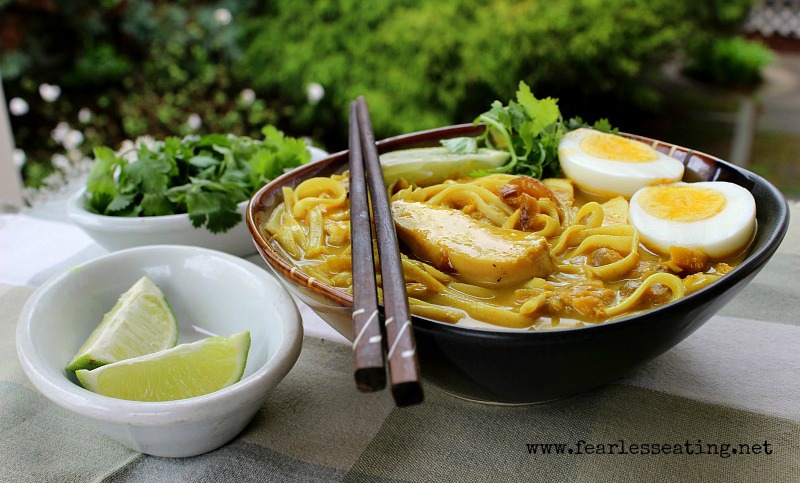 Burmese Coconut Chicken Noodle Soup