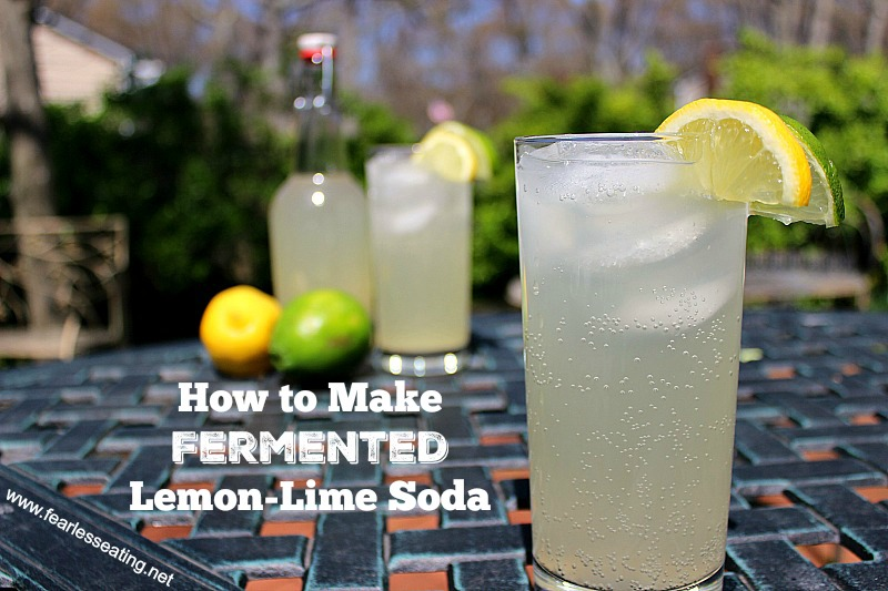Fermented lemon lime soda, unlike store-bought versions, uses REAL lemon and lime juice and even has health benefits due to the process of fermentation.