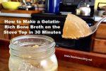 Gelatin-rich bone broth