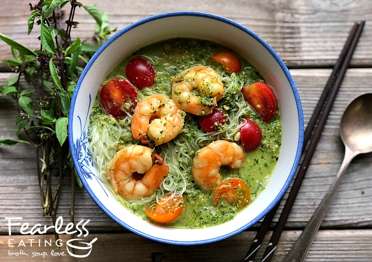 Thai Basil Pesto Soup