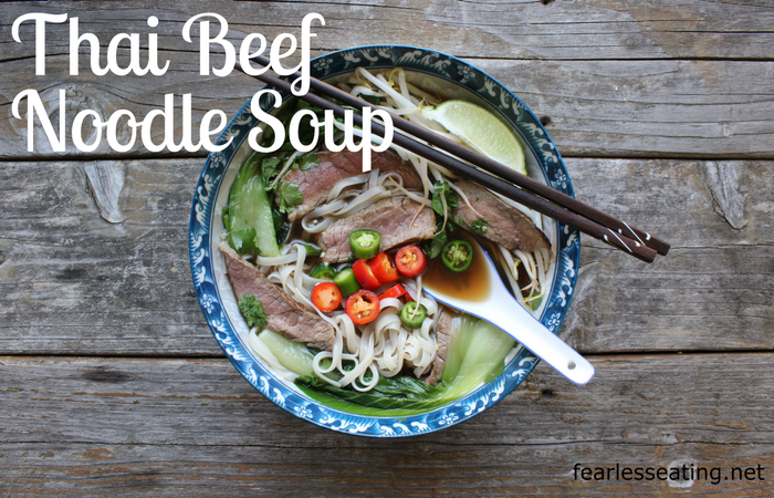 This Thai beef noodle soup recipe is one of my absolute favorite Thai soups. It's also pretty easy to make at home and very adjustable to individual tastes.