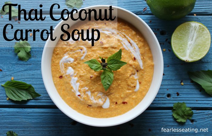 This Thai coconut carrot soup is dairy-free and customizable to your taste by tweaking it with different combos of salty, sweet and sour seasonings.