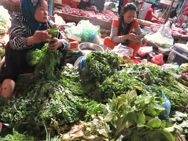wild edibles at cambodian market