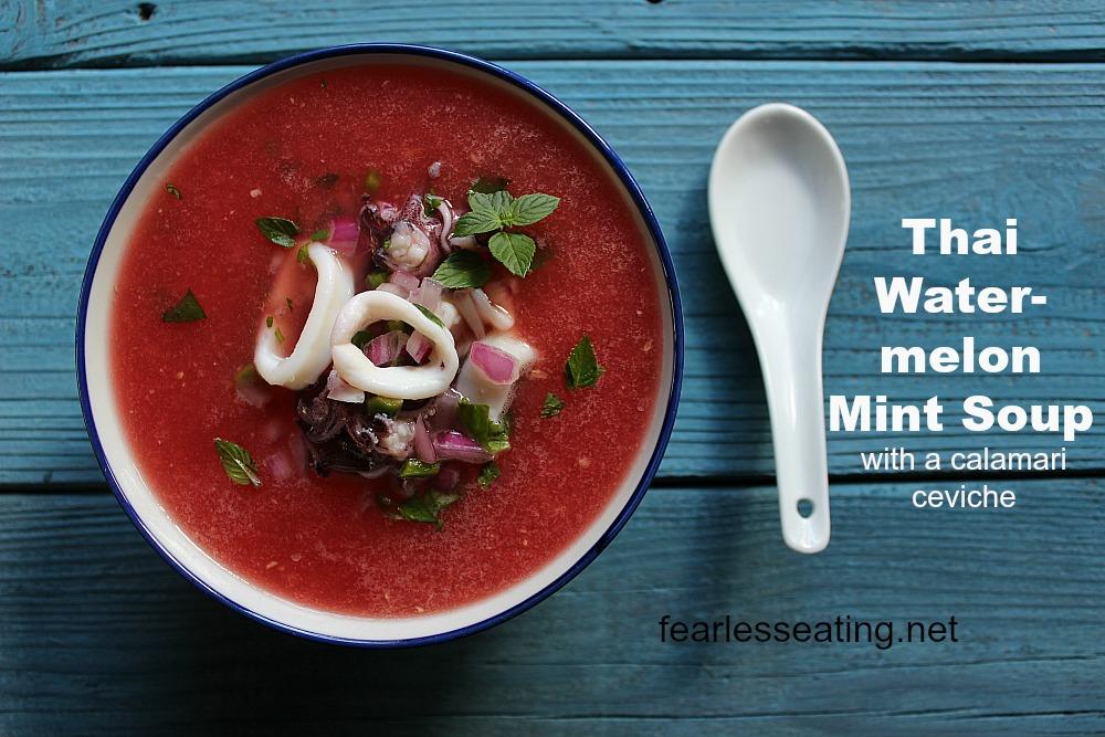 thai watermelon mint soup
