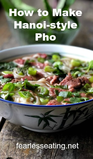 Hanoi pho vs. Saigon pho. There's a big difference! In this post you'll learn all about Hanoi pho, how to make it, and why it's my favorite type of pho.