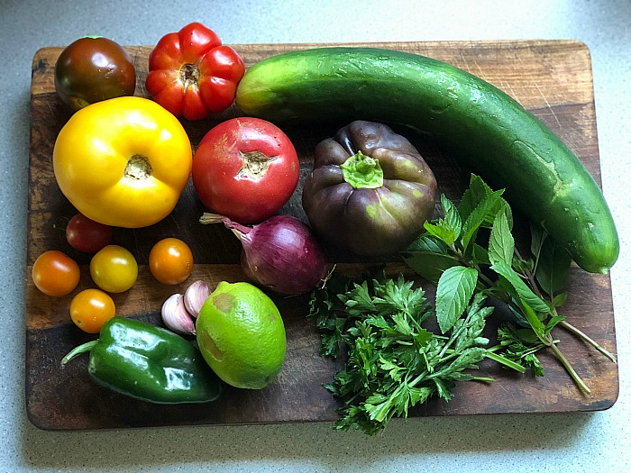 Cucumber Tomato Gazpacho ingredients