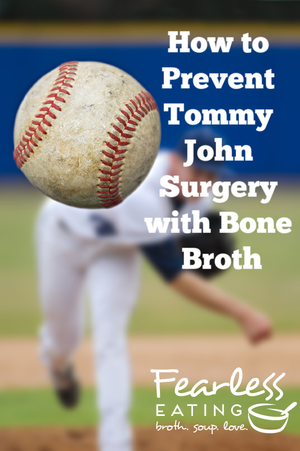 Nutrition is rarely mentioned by the experts to prevent Tommy John surgery. Learn why bone broth and other real, traditional foods can help stop the epidemic!