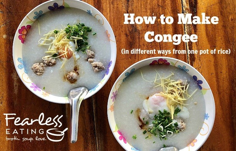 How to make congee in different ways