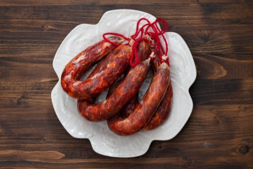 Portuguese chourico sausage