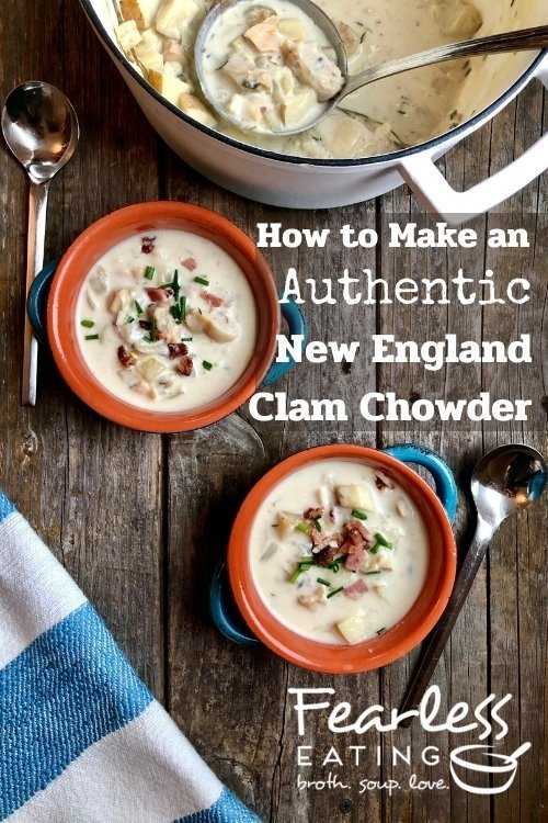 authentic new england clam chowder recipe pin