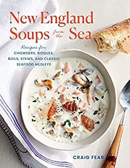 cookbook cover for New England Soups from th Sea