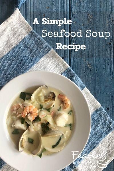 Seafood Soup Recipe Pinterest image